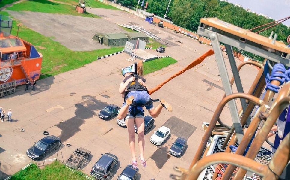 Тандем прыжок Тарзанка Москва