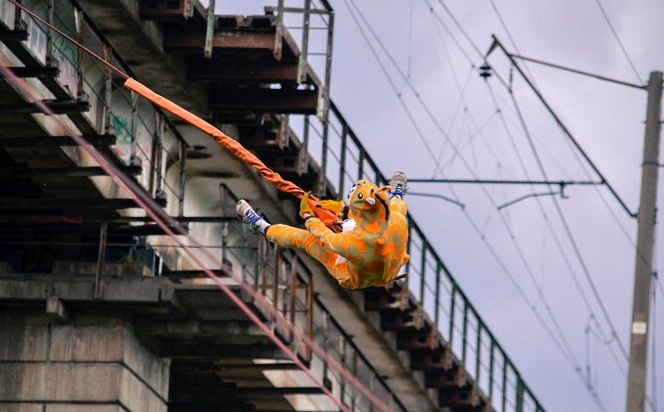 Прыжок с моста - Манихино!