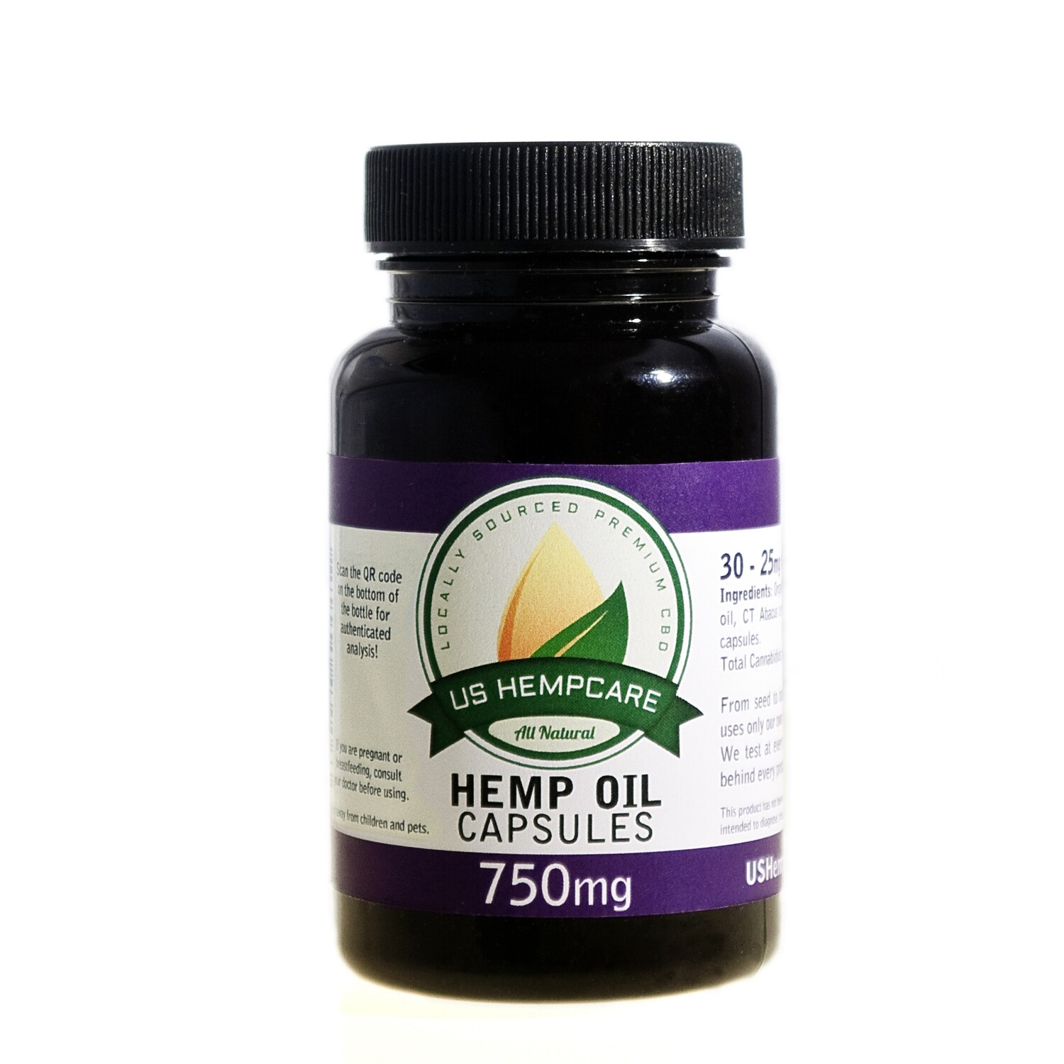 CBD Hemp Oil Capsules - 750mg