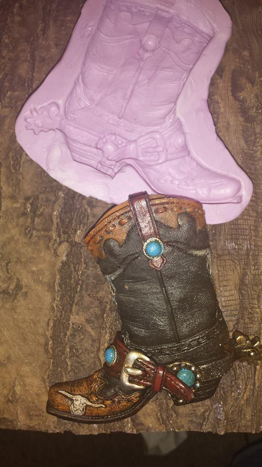 Large Cowboy Boot Mold
