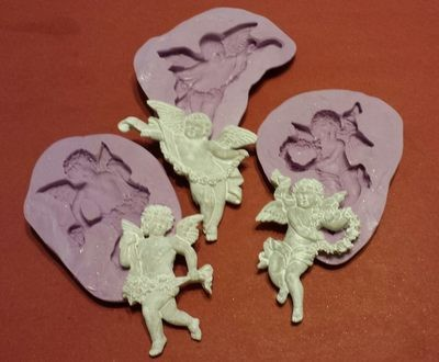 Cherub Molds - set of 3