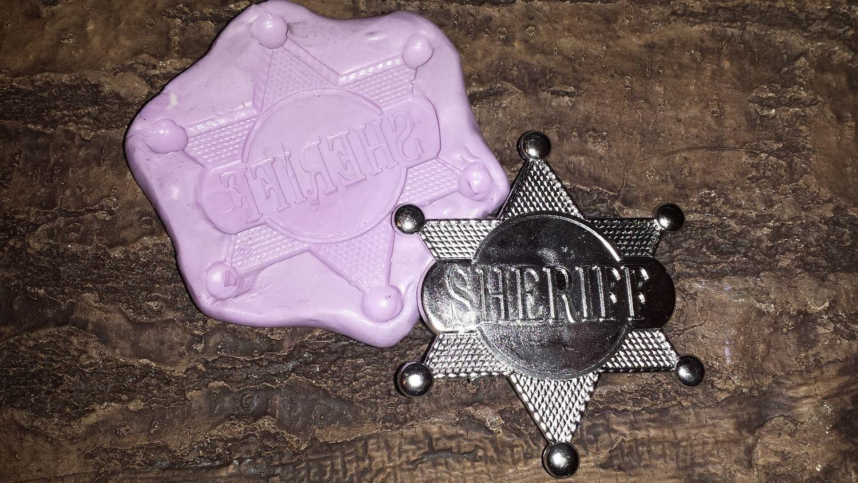 Lg Sheriff Badge Mold