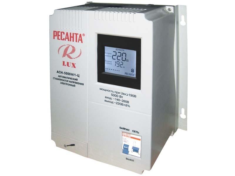 Стабилизатор напряжения серии LUX РЕСАНТА АСН-5000Н/1-Ц 63_6_16