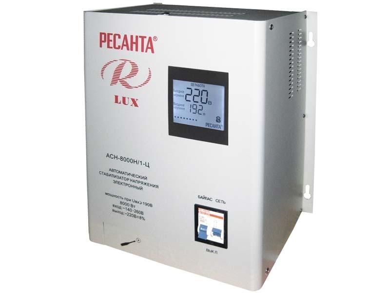 Стабилизатор напряжения серии LUX РЕСАНТА АСН-8000Н/1-Ц 63_6_17