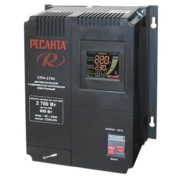 Однофазный цифровой стабилизатор пониженного напряжения РЕСАНТА СПН-2700 63_6_24