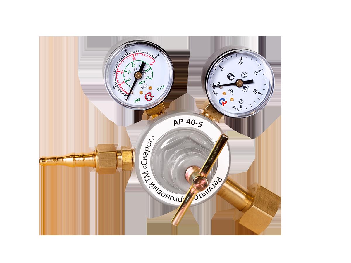 Регулятор расхода газа аргоновый АР-40-5 (манометр +  расходомер) 94150