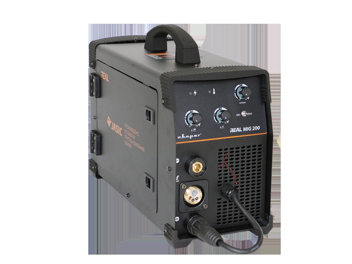 Сварочный инвертор REAL MIG 200 (N24002) BLACK (в комплекте маска + краги) 94154