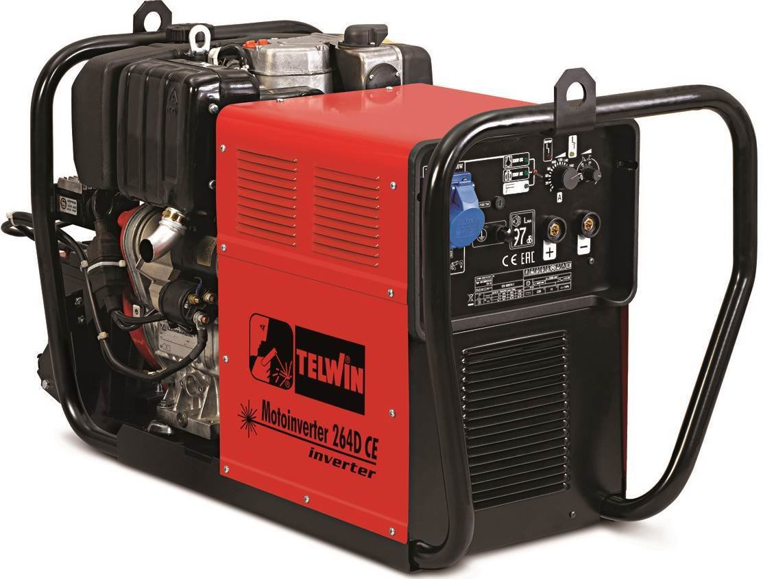 Сварочный генератор Telwin MOTOINVERTER 264D CE LOMBARDINI 815980
