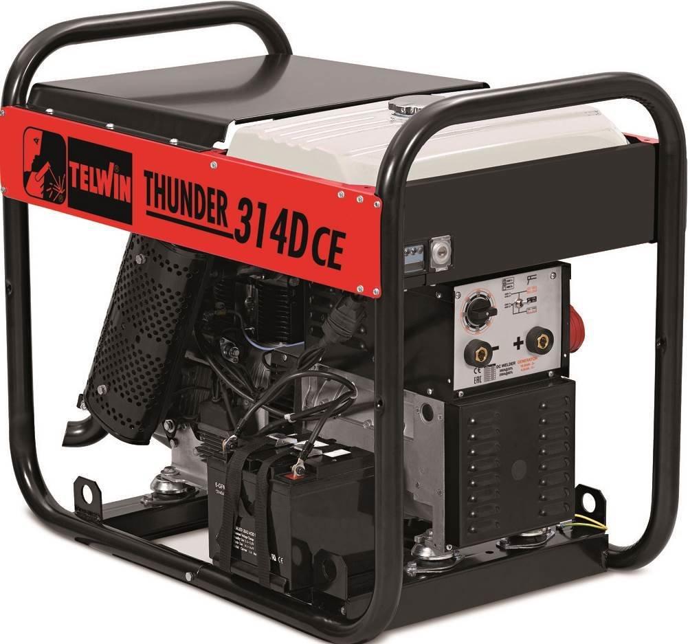 Сварочный генератор Telwin THUNDER 314D CE  LOMBARDINI 825003