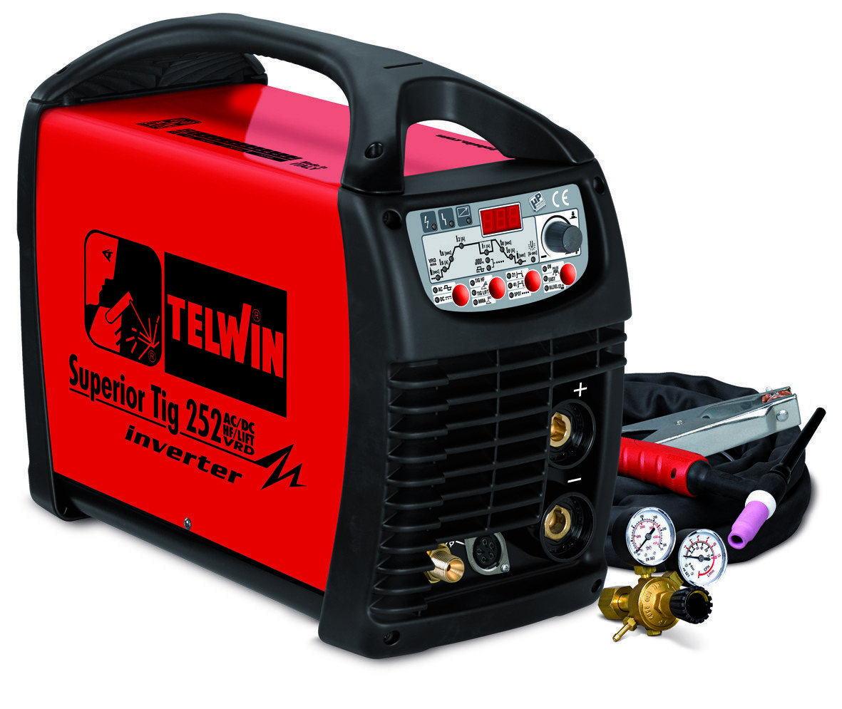 Аппарат аргонодуговой сварки Telwin SUPERIOR TIG 252AC/DC HF/LIFT VRD + TIG ACC. 816117