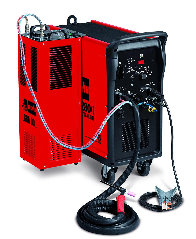 Аппарат аргонодуговой сварки Telwin SUPERTIG 280/1 AC/DC-HF/LIFT AQUA + TIG ACCESSORIES 833017