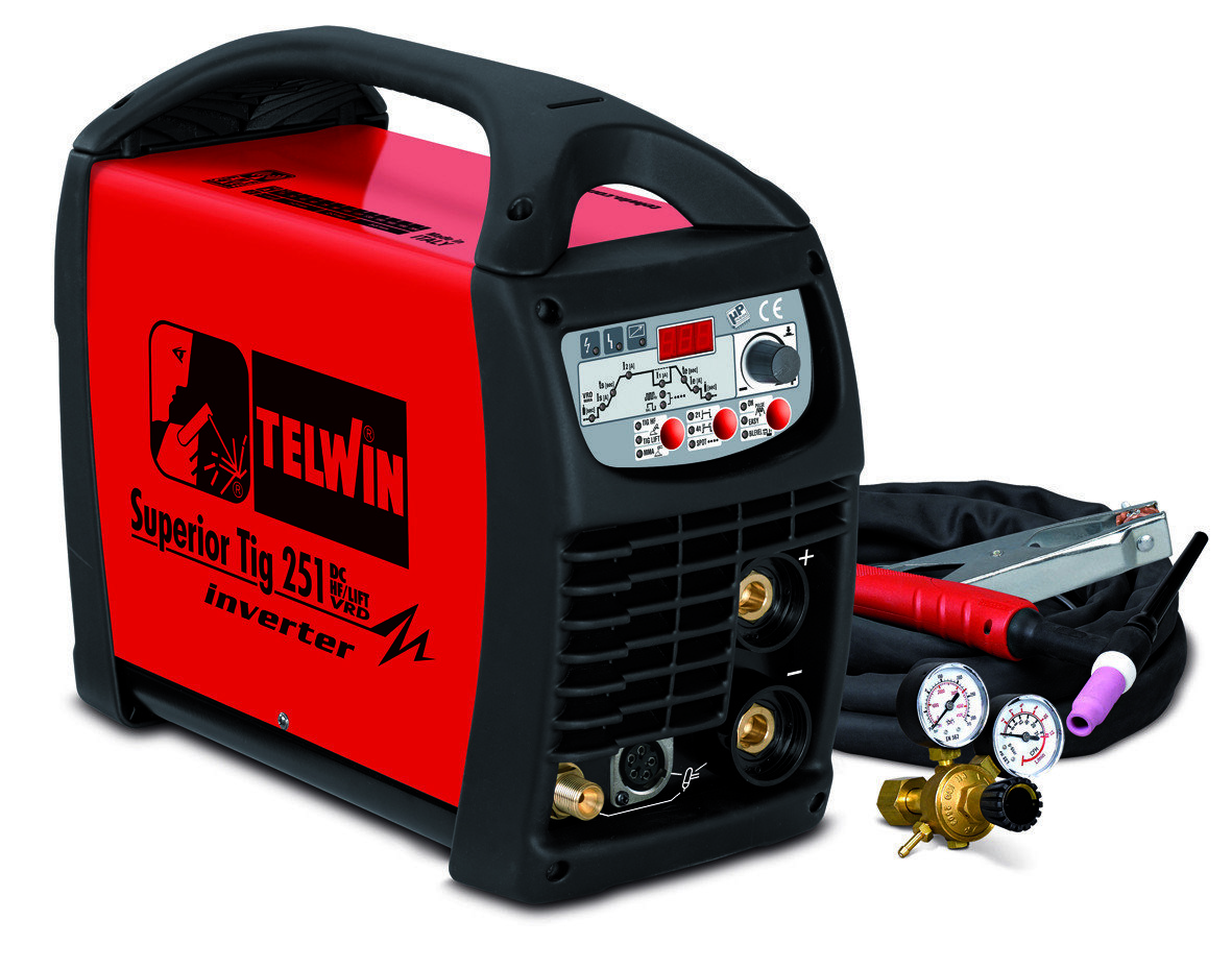 Аппарат аргонодуговой сварки Telwin SUPERIOR TIG 251 DC-HF/LIFT VRD + TIG ACC. 816116