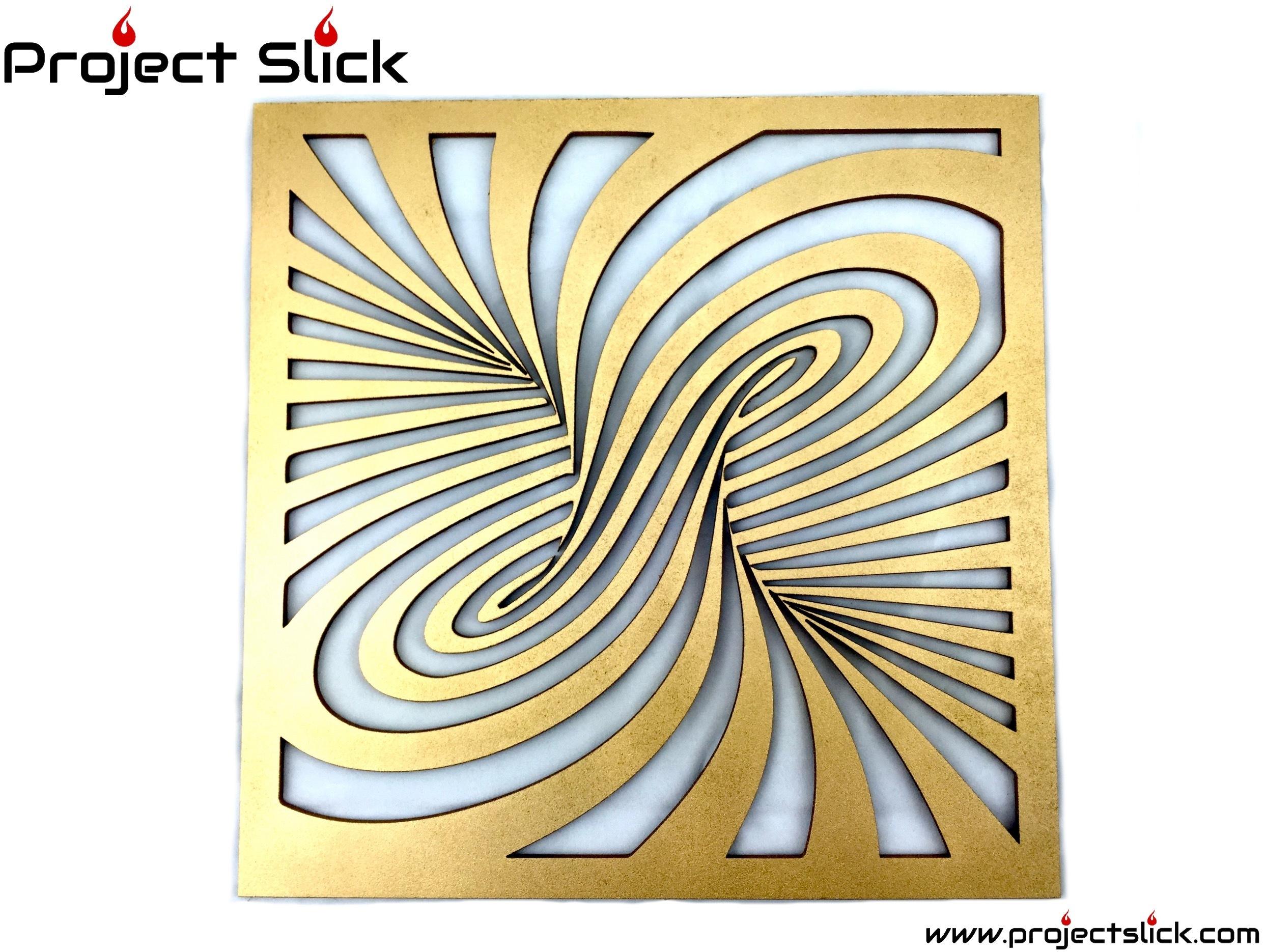 Twist Illusion Wall Art - Small