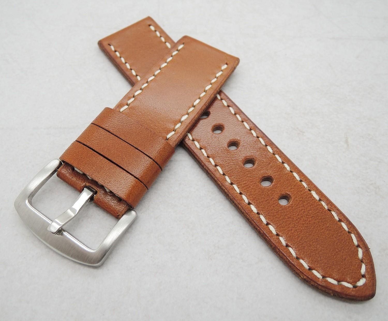 26mm wide cognac brown strap