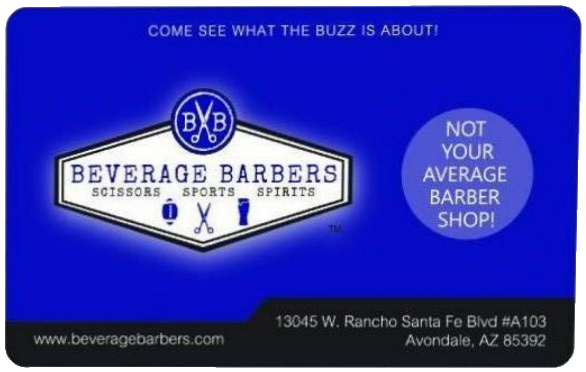Beverage Barbers Web Gift Card-50