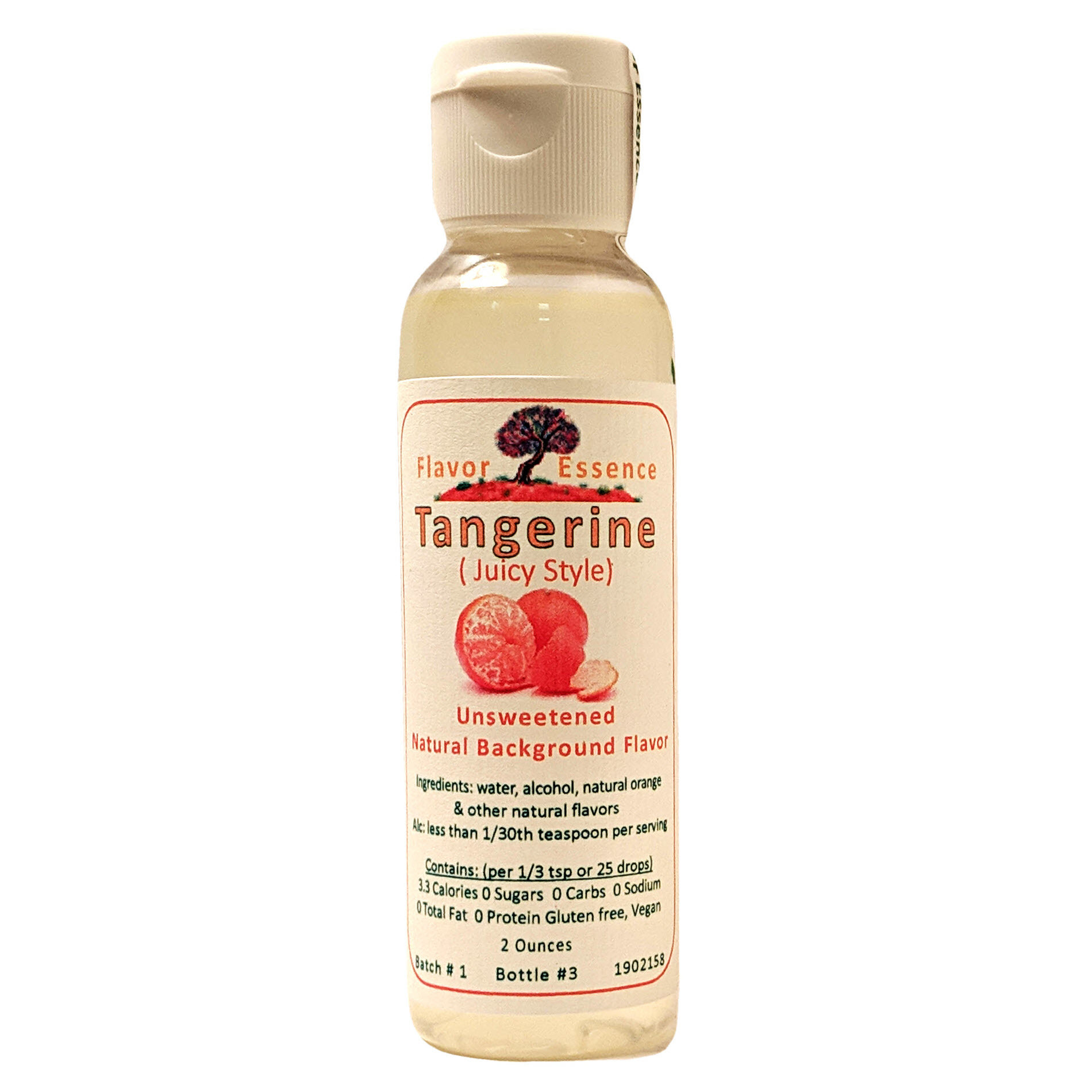 TANGERINE (Juicy Style) Unsweetened Natural Flavoring TANG