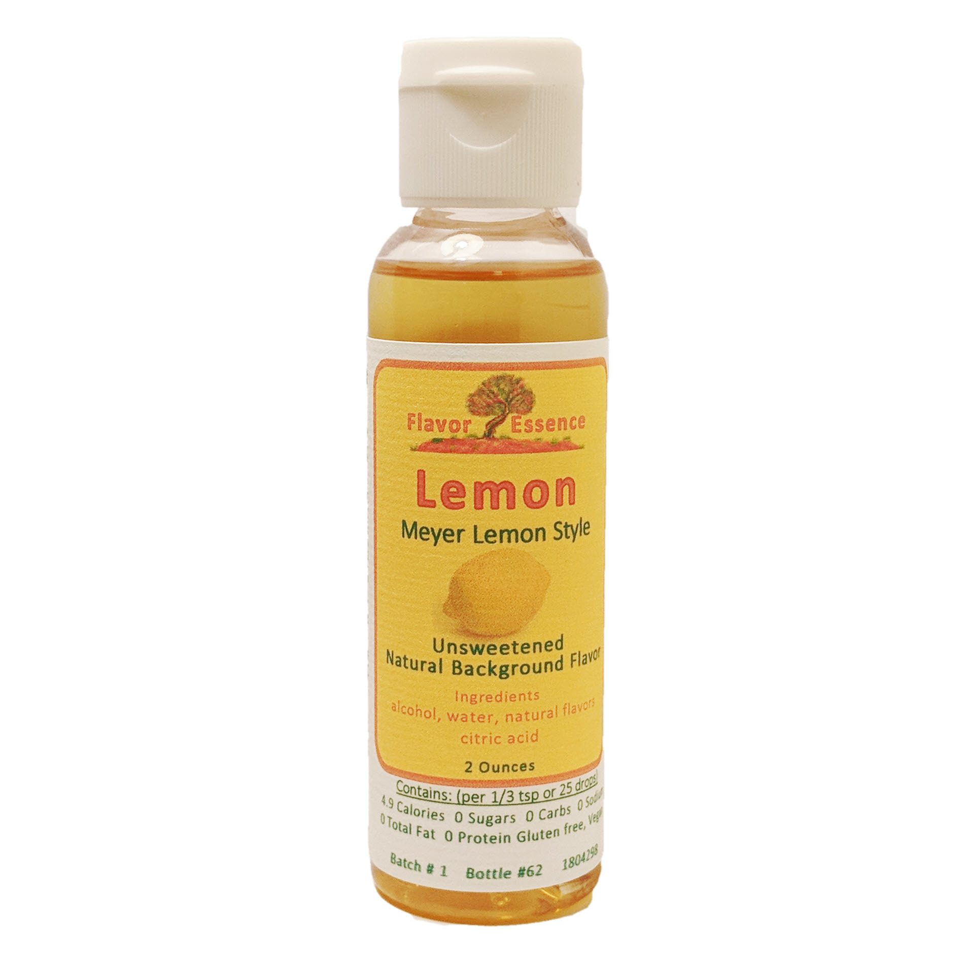 Flavor Essence LEMON (Meyer Lemon) -Unsweetened Natural Flavoring Lem