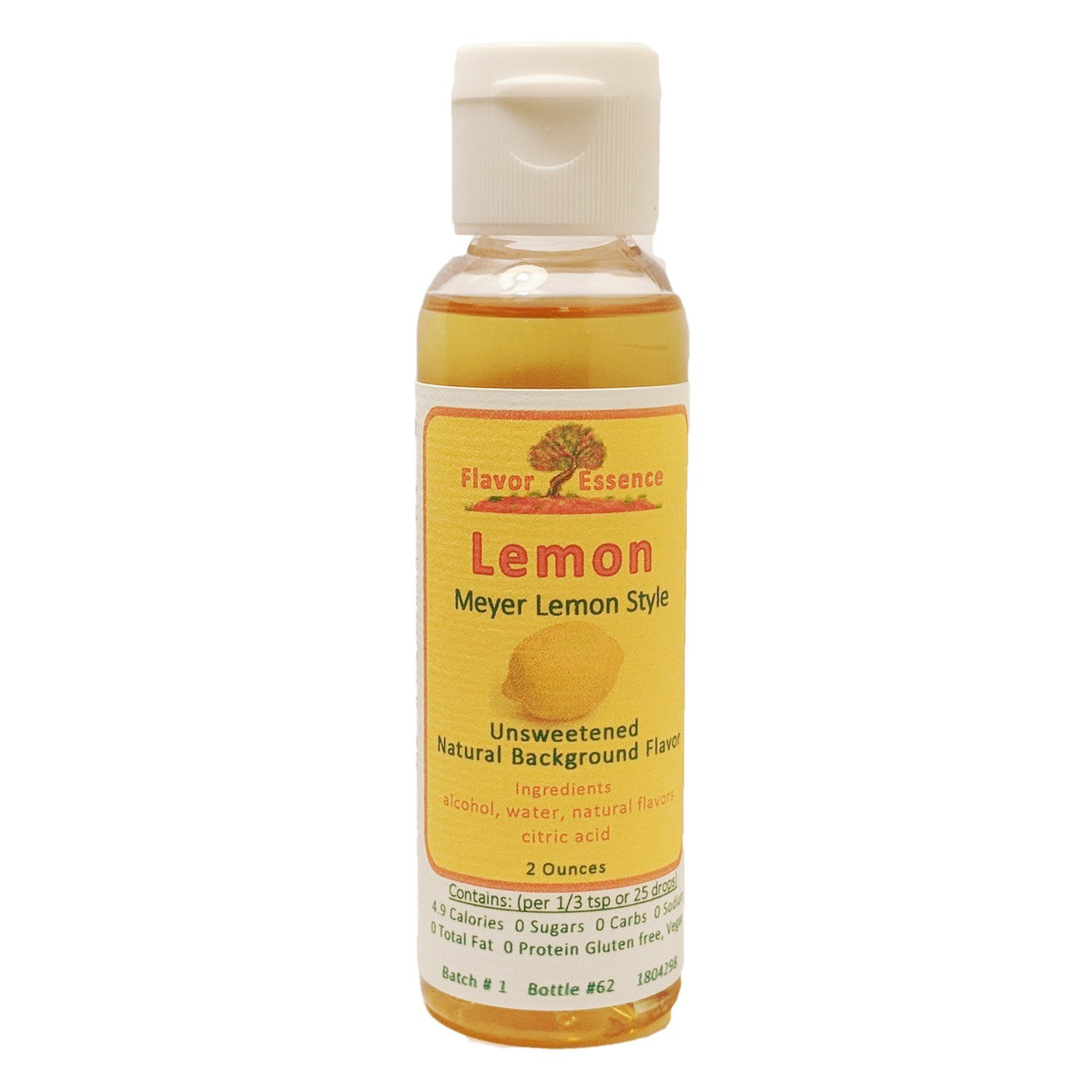 Flavor Essence LEMON (Meyer Lemon) -Unsweetened Natural Flavoring