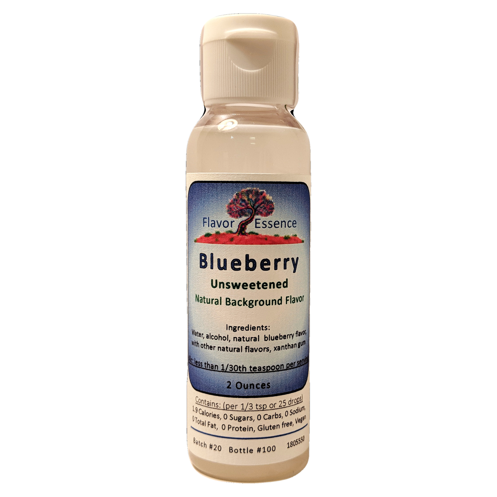 Flavor Essence BLUEBERRY -Unsweetened Natural Flavoring BLU-