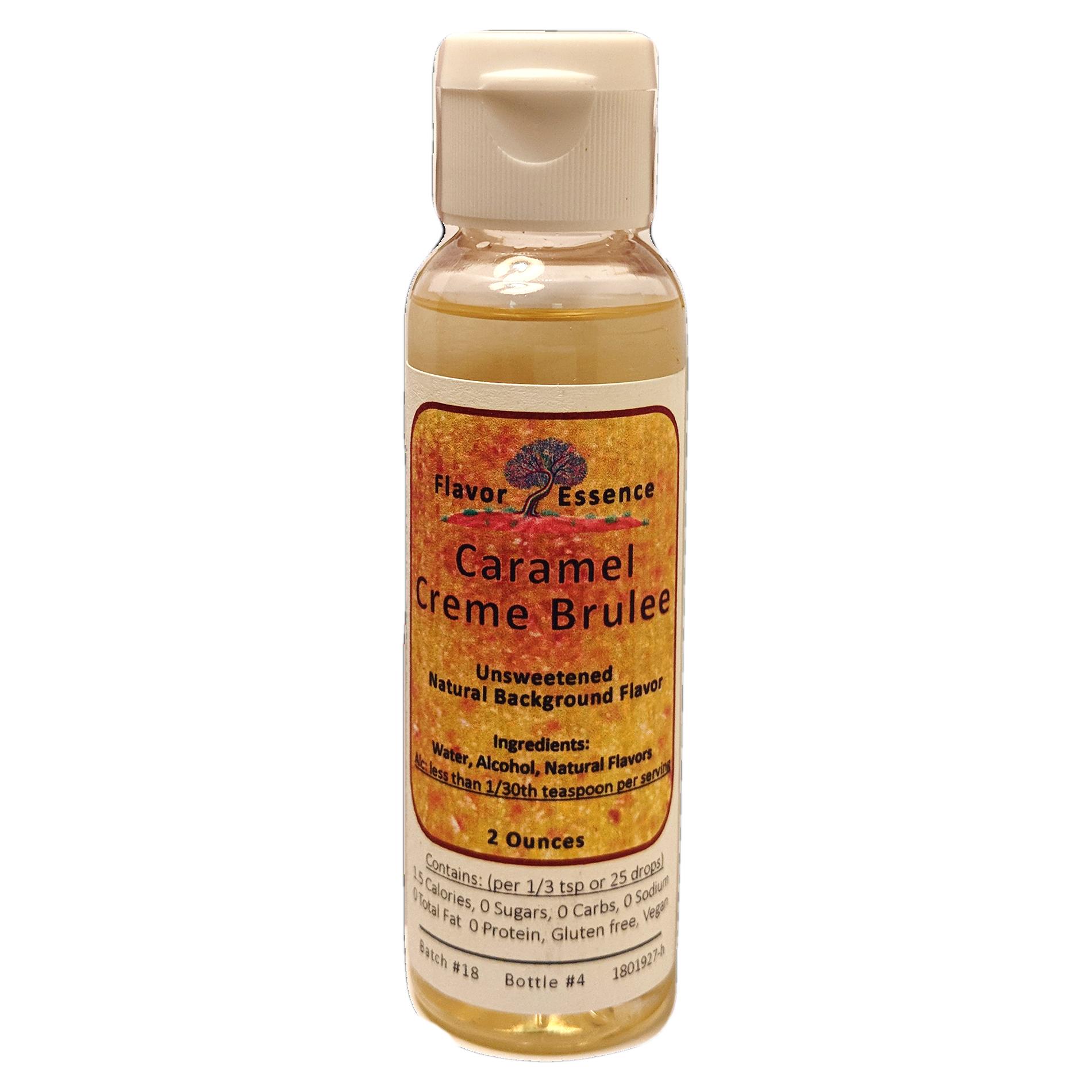 CARAMEL CREME BRULEE Unsweetened Natural Flavoring CCB-