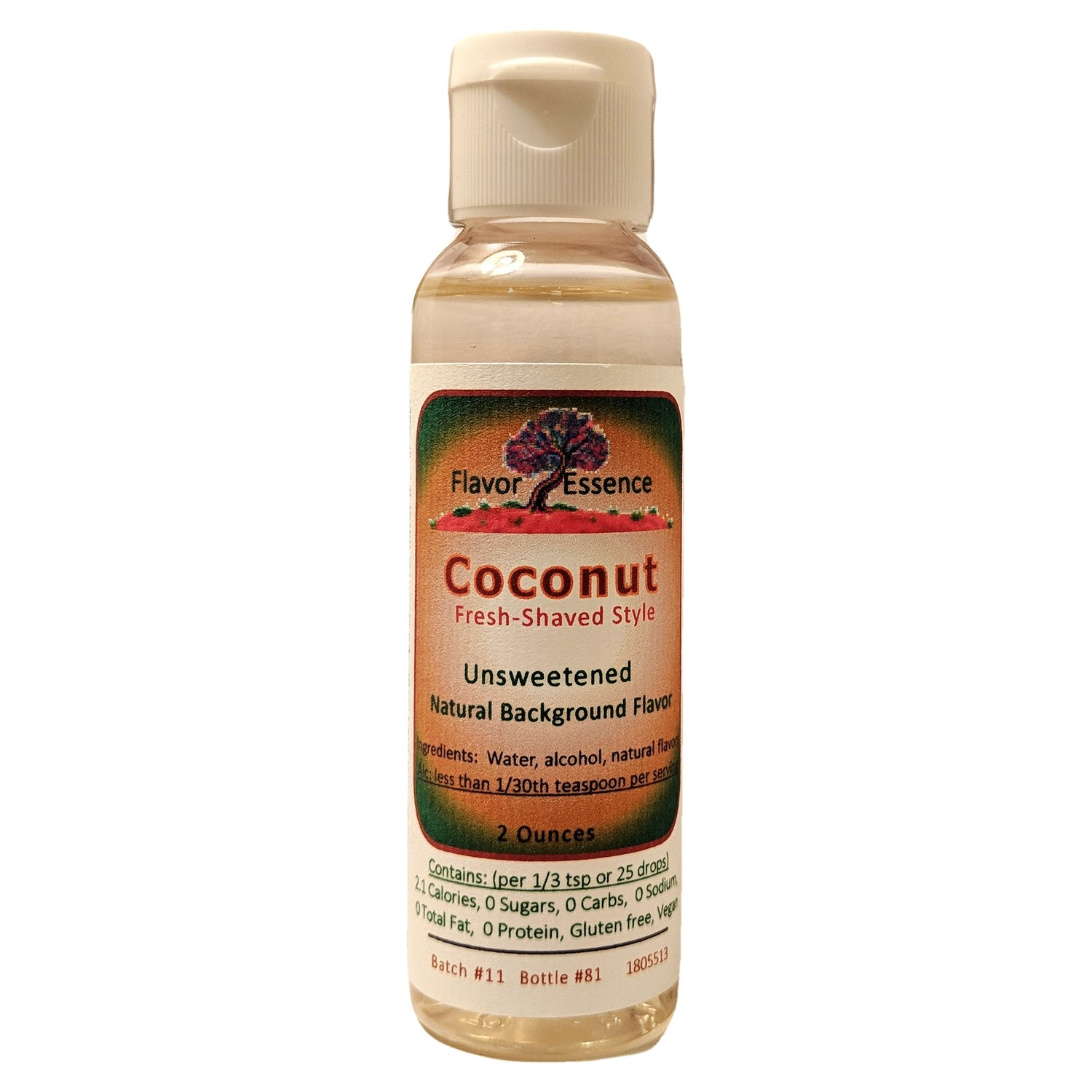 Flavor Essence COCONUT (Fresh Shaved Style) -Unsweetened Natural Flavoring