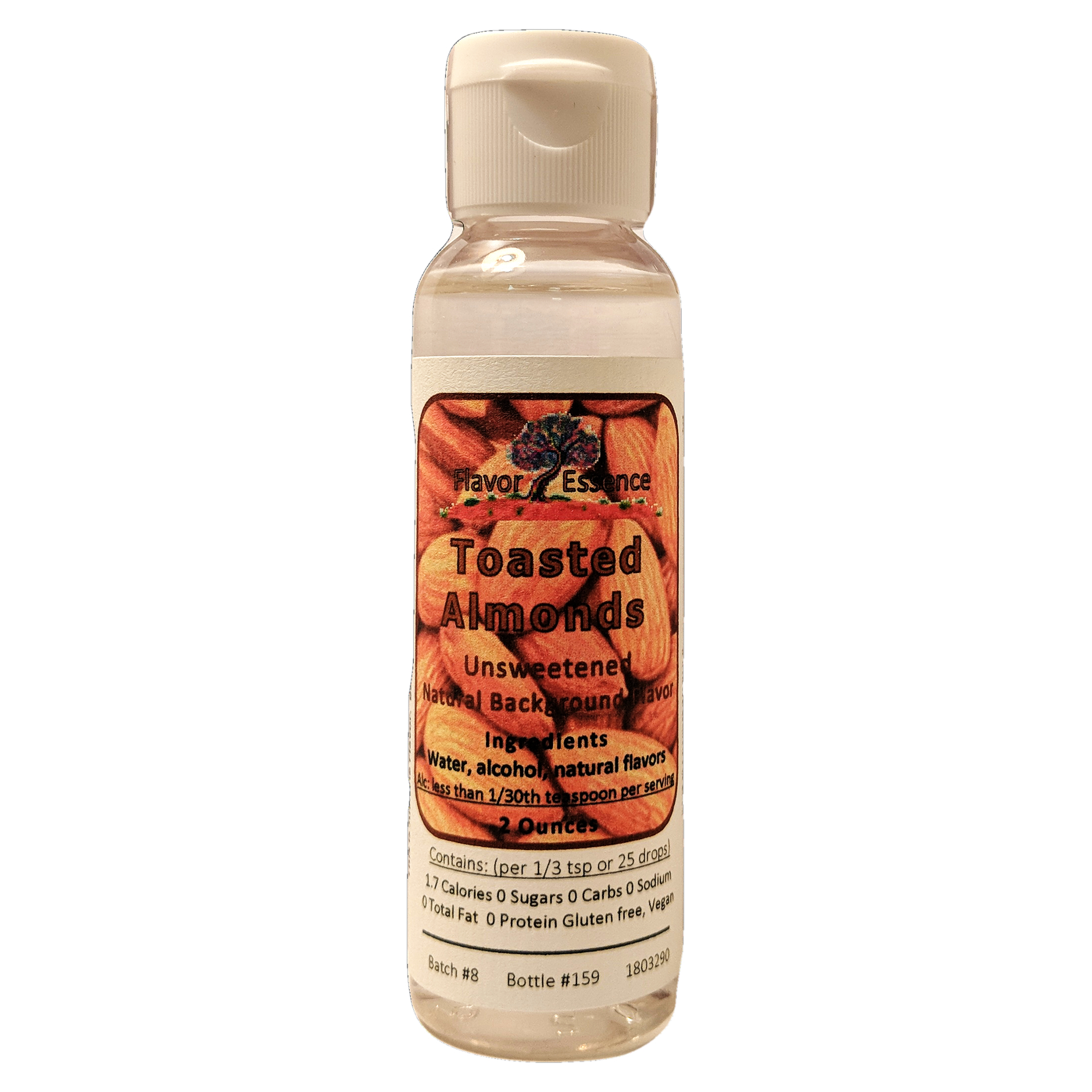 Flavor Essence TOASTED ALMONDS -Unsweetened Natural Flavoring TA-