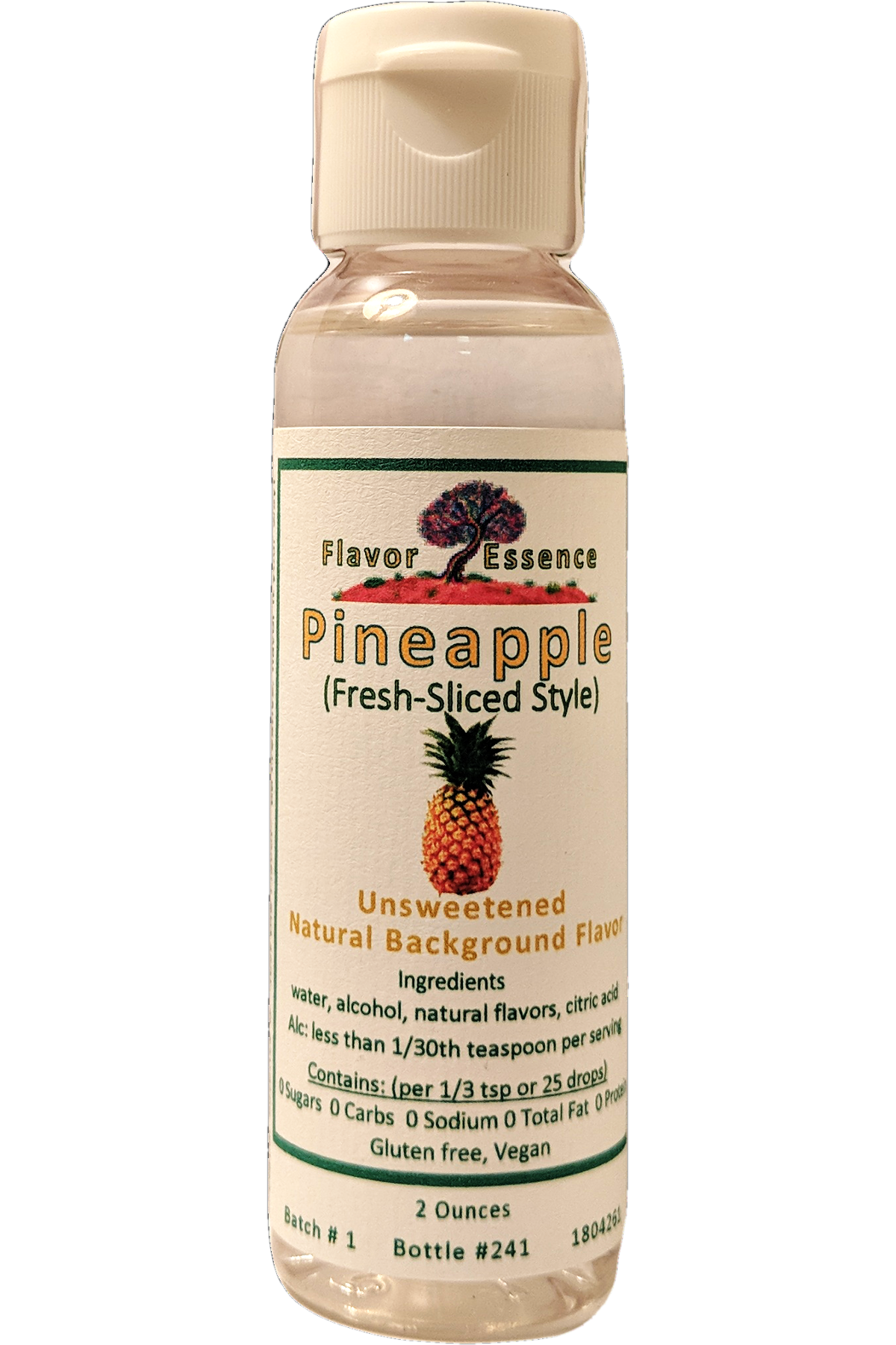 PINEAPPLE (Fresh-Sliced Style) Unsweetened Natural Flavoring PA