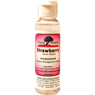 Flavor Essence STRAWBERRY (Jam-Style)  -Unsweetened Natural Flavoring