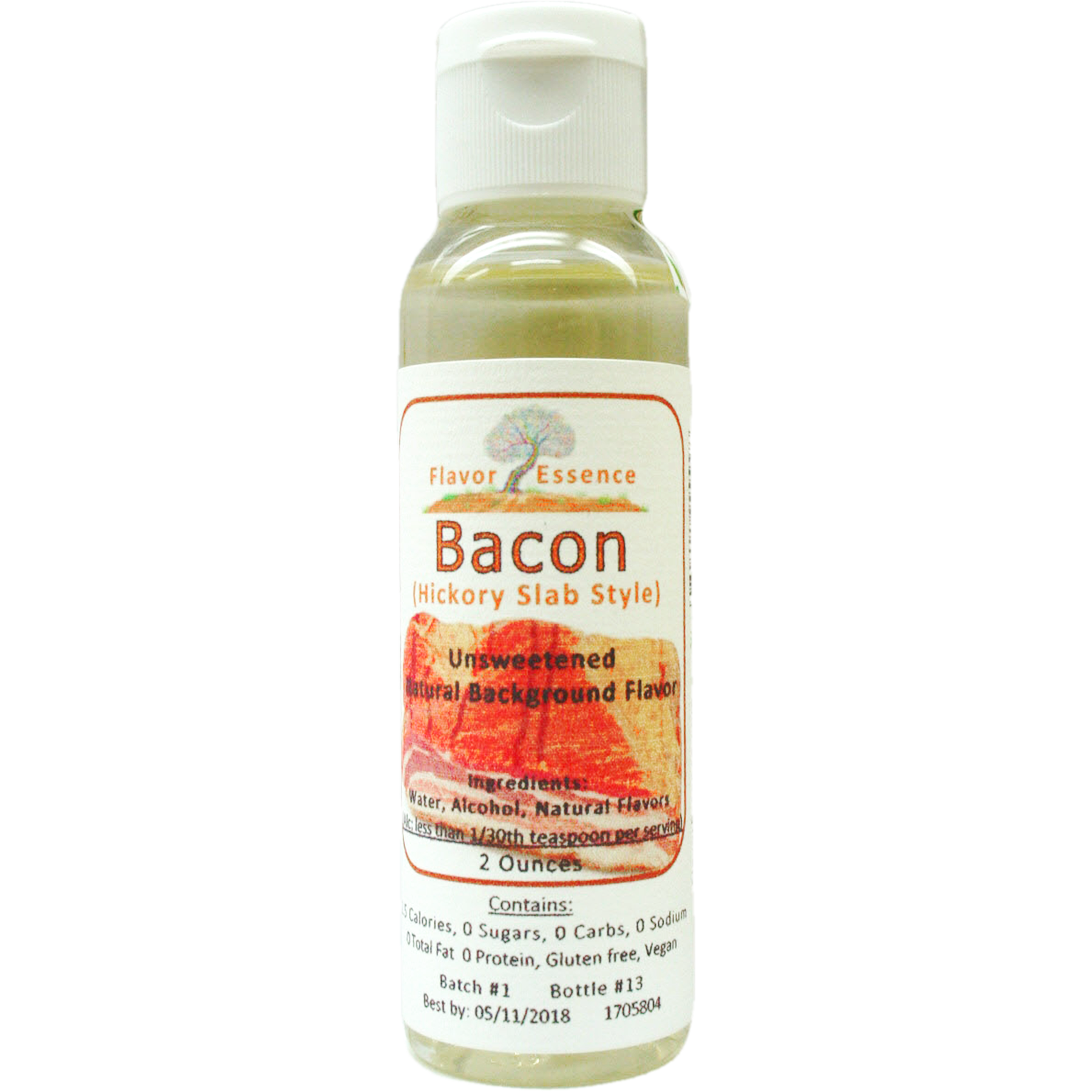 BACON -(Hickory Slab Style) NATURAL FLAVORING BACON