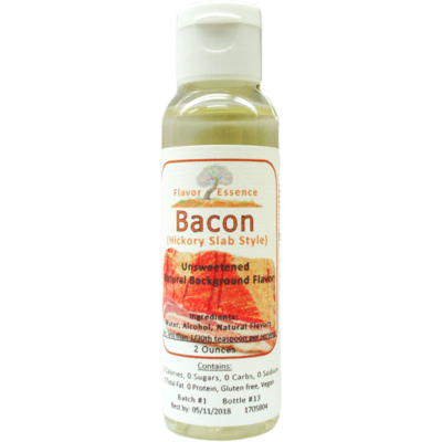 Flavor Essence BACON -(Hickory Slab Style) Natural Flavoring