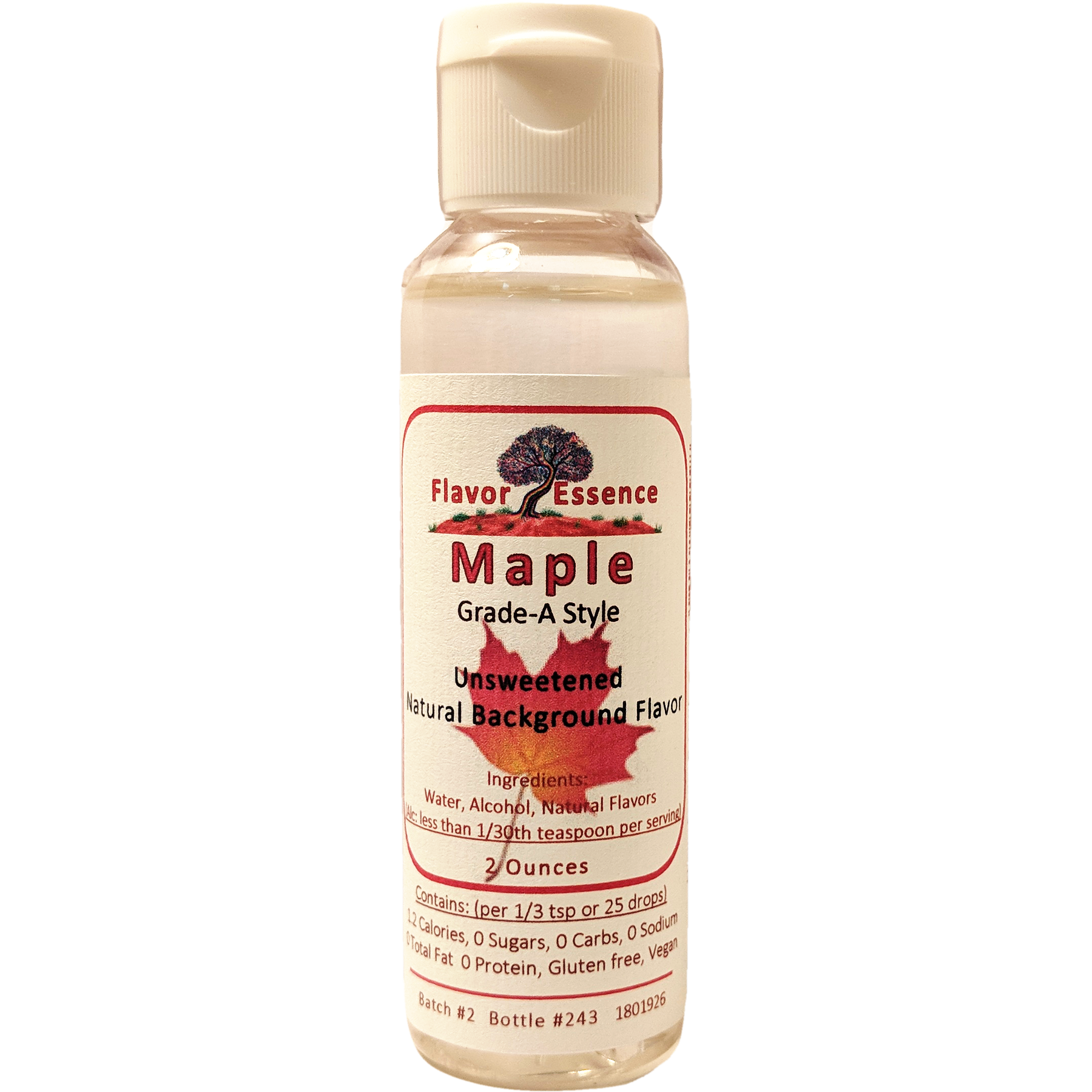 Flavor Essence MAPLE (Grade-A Style) -Unsweetened Natural Flavoring MAP-