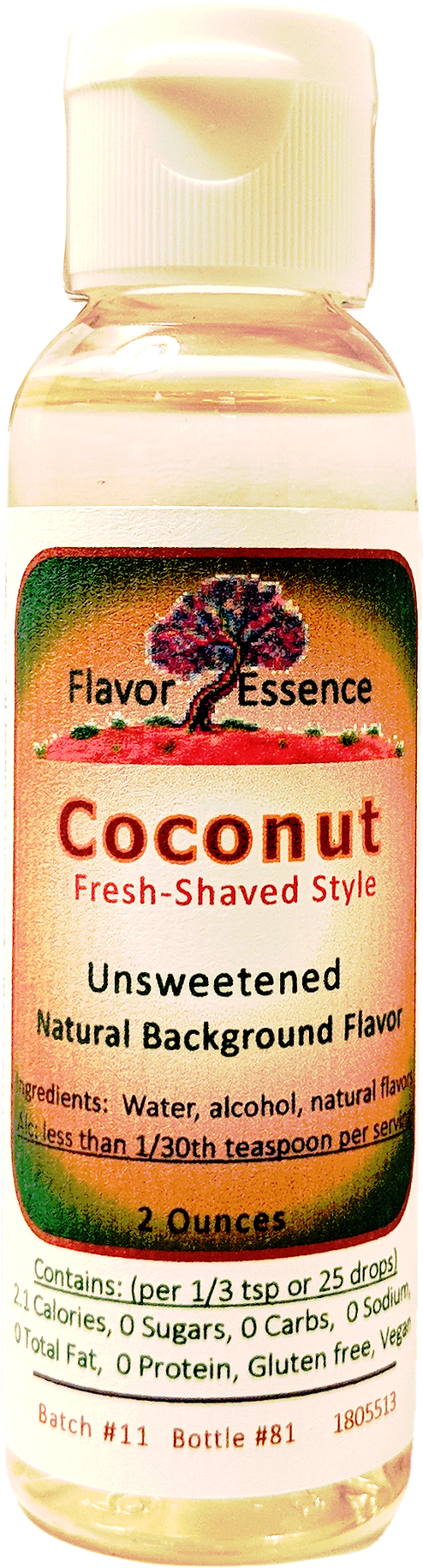COCONUT (Fresh Shaved Style) Unsweetened Natural Flavoring COC-