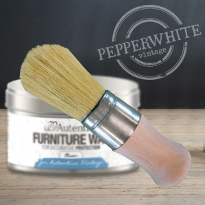 Superb wax pure bristle brush with short shaft