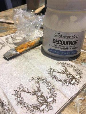01/07/2018 Decoupage Workshop