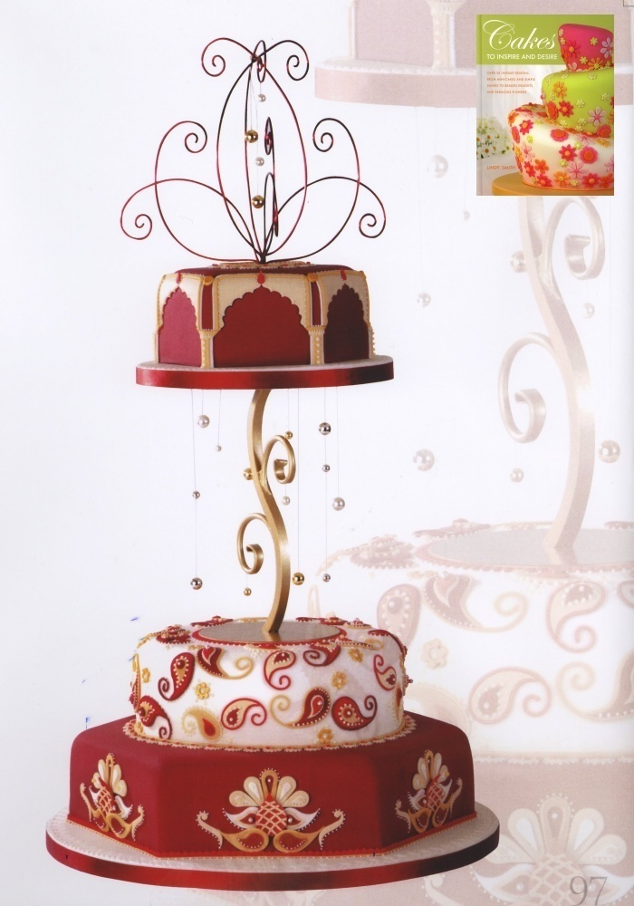 Eastern Ornament wedding cake from Lindy Smith's Cakes to Inpire and desire' book