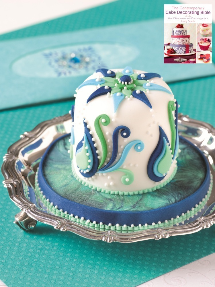 Cool blies mini cake from Lindy Smith's 'Contemporary Cake decorating Bible' Book