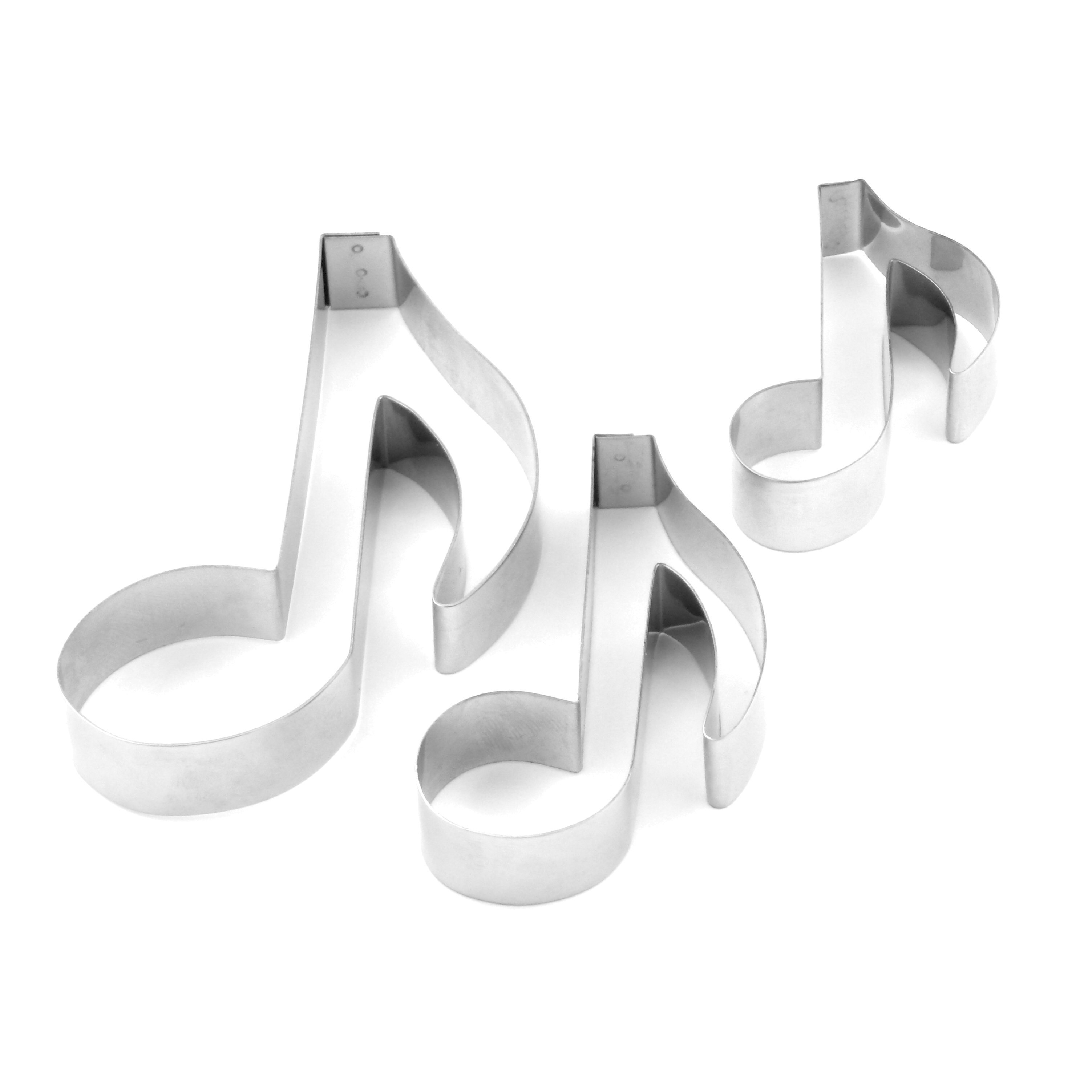 Musical Note Sugarcraft Cutters - Set of 3 (Lindy's) SKU18840