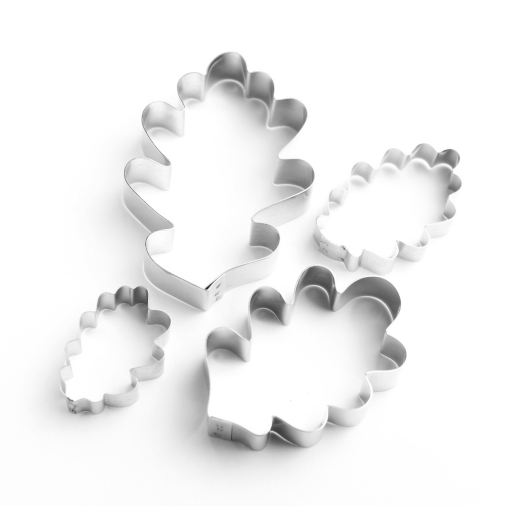 Oak Leaf Sugarcraft Cutters - Set of 4 (Lindy's)