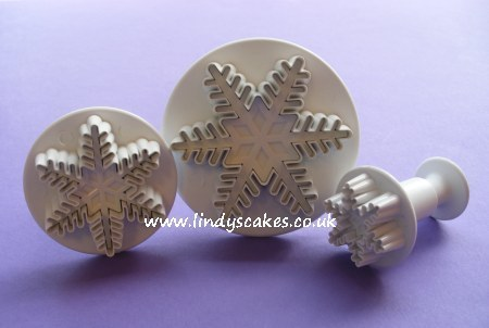 Snowflake Plunger Cutters - set of 3 (PME)