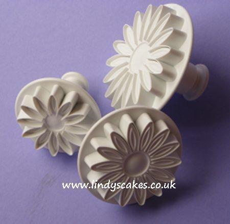 Sunflower, Gerbera and Daisy Cutters - Set of 3 Veined  (PME) SKU18051