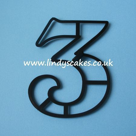 Number '3' Extra Large Cutter (Patchwork Cutters) SKU187811121111111212