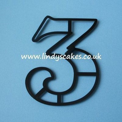 Number '3' Extra Large Cutter (Patchwork Cutters)