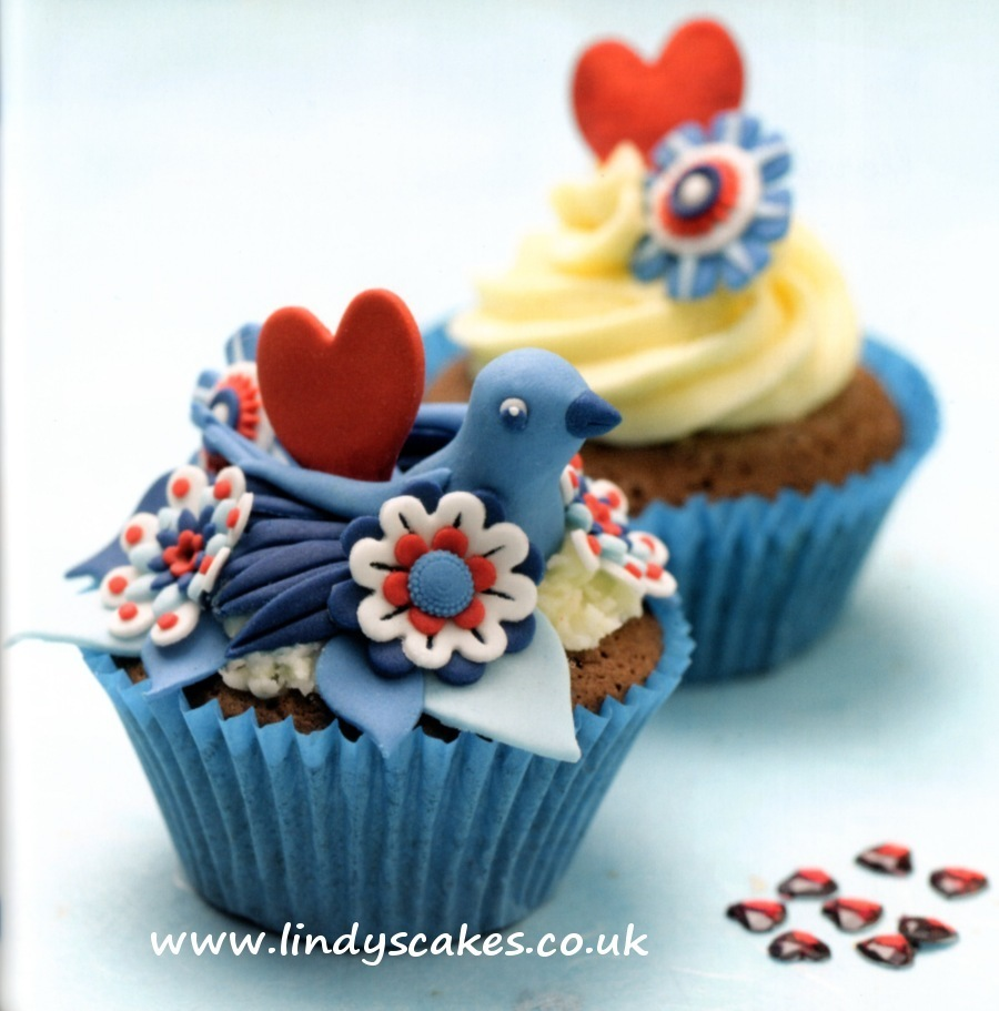 Red heart, the perfect size for cupcake decorating