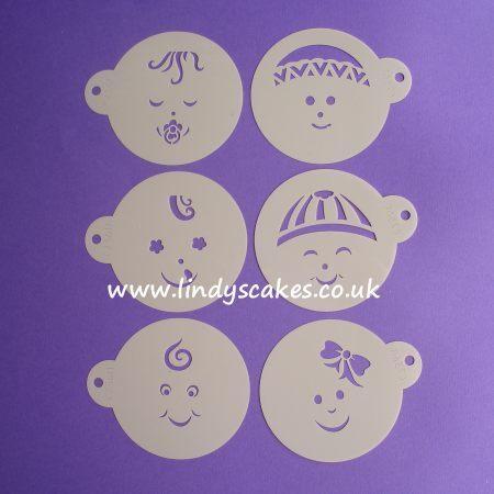 Baby Face Stencils (C736) SKU187251