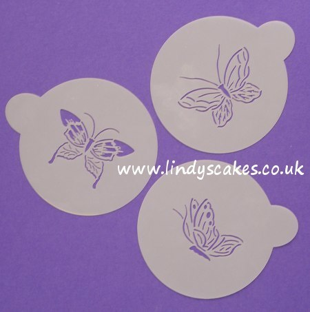 Butterfly Stencils Large Set of 3 (C155) SKU17812