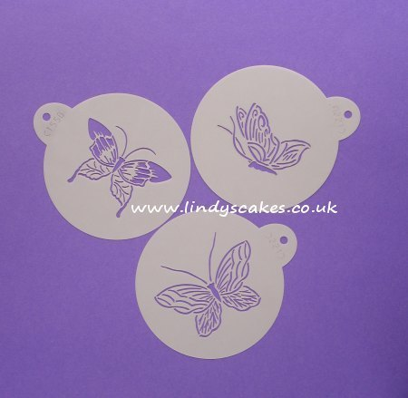 Butterfly Stencils Small Set of 3 (C195) SKU17814