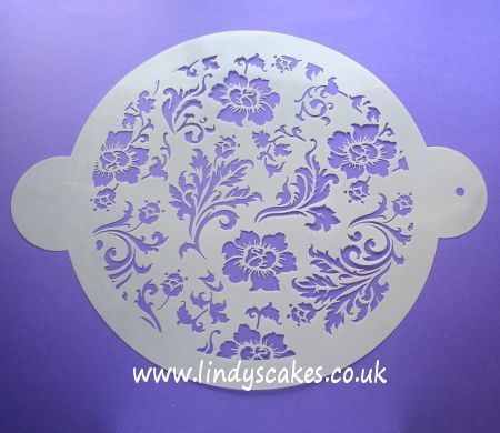 Chic Rose Circle Stencil (C344) SKU17946
