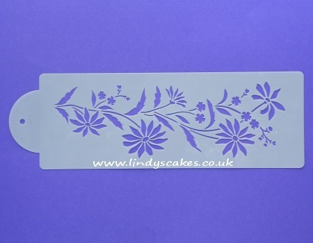 Daisy and Forget-Me-Not Stencil (C547) SKU17962