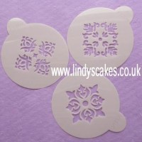Four Point Rosette Stencil (C326) SKU17824