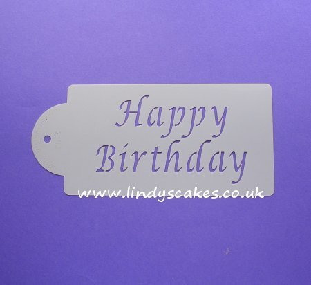 Happy Birthday Stencil (C013) SKU17953